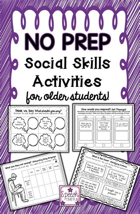 prep social skills  older students teaching social