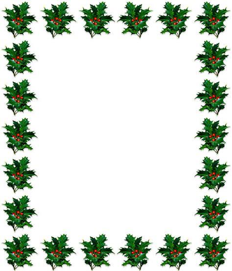 christmas holly borders clipart