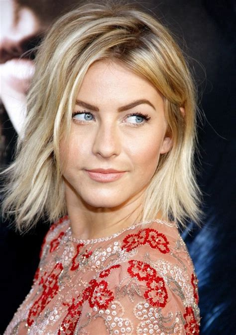 celebrity layered messy bob hairstyle  women  julianne hough hairstyles weekly