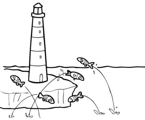 Maritime Motive Zum Ausmalen by Kostenlose Malvorlage Sommer Leuchtturm Zum Ausmalen