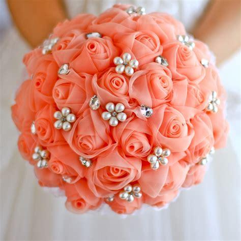 Popular Coral Rose Bouquet-Buy Cheap Coral Rose Bouquet