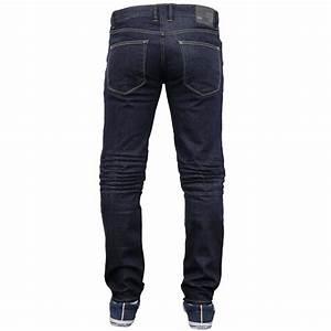 Mens Denim Jeans Crosshatch Pants Slim Fit Straight Leg ...
