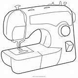 Sewing Coloring Machine Pages Template Printable Getcolorings Templates sketch template