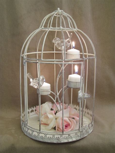 bird cage wedding centerpieces distressed shabby bird cage candle holder wedding table