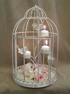bird cage wedding centerpieces distressed shabby bird With kitchen cabinets lowes with bird nest candle holder
