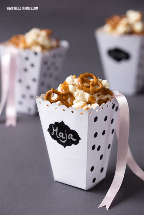 diy popcornbox basteln salted caramel popcorn rezept