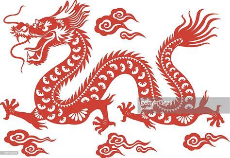 Chinese Dragon Papercut Art Vector Art