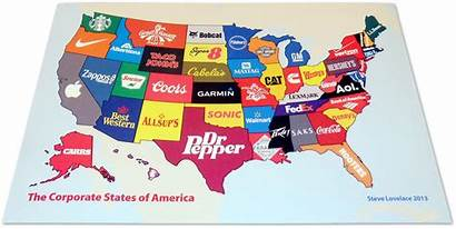 America States Corporate Poster Maps Famous Brand