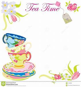 invitation for afternoon tea stock vector image With morning tea invitation template free