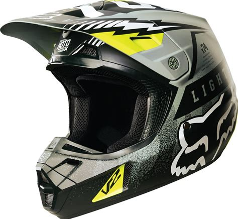 motocross helmet closeout fox racing v2 vicious dot mx motocross riding helmet