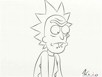 Morty Rick Coloring Pages Draw Drawing Printable