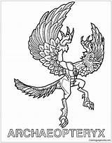 Pages Archaeopteryx Shadow Invizimals Coloring Zone Printable Dinosaurs Coloringpagesonly sketch template