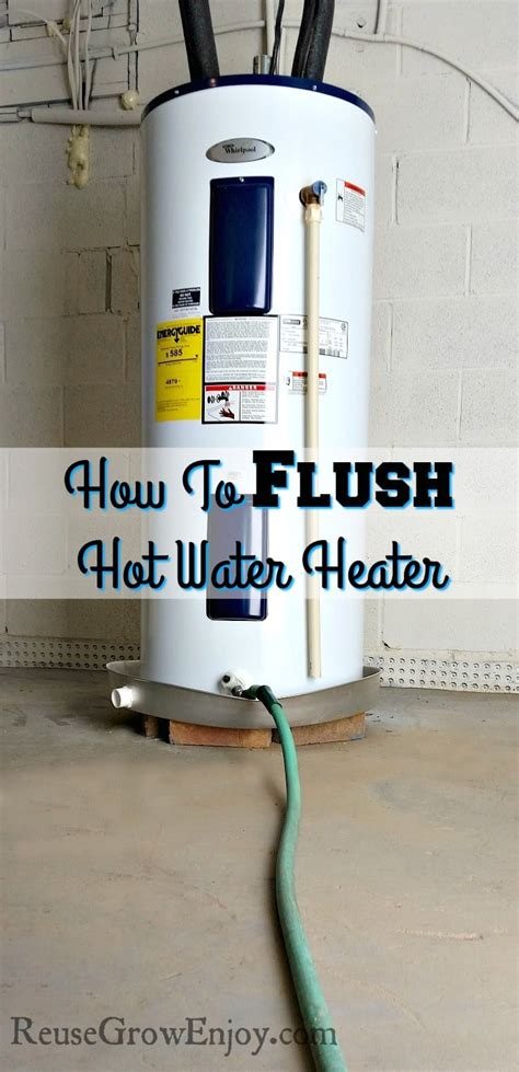 How To Flush Hot Water Heater  Electric Hot Water Heater