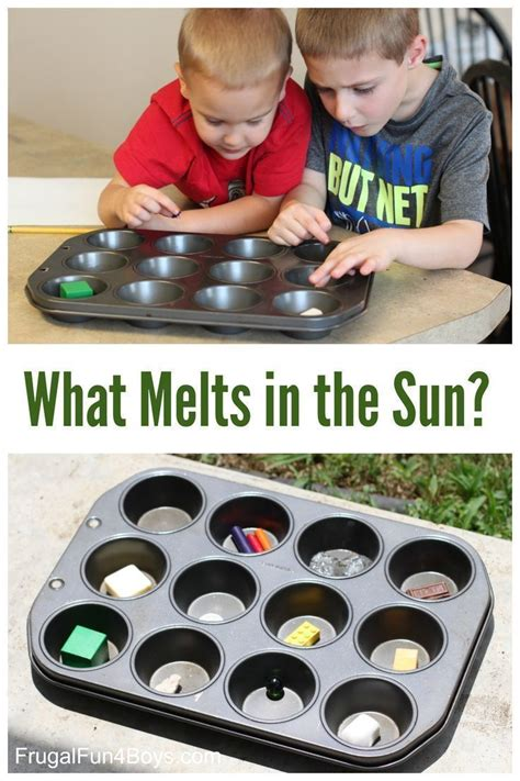 Simple Science Experiment for Kids: What Melts in the Sun ...