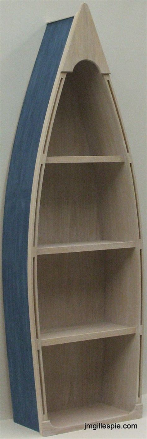 4 Ft Bookshelf by 5 Foot Blue Row Boat Bookshelf Bookcase Shelves By