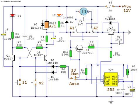 automatic curtain closer circuit