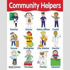 Community Helpers Chart Poster Teacher Kindergarten New