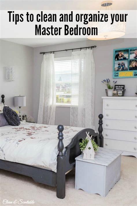 organize  master bedroom clean  scentsible