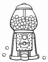 Gumball Machine Coloring Gum Pages Bubble Printable Drawing Template Food Coloringcafe Sheets Pdf Sheet Worksheet Colouring Clipart Print Sketch Preschoolers sketch template