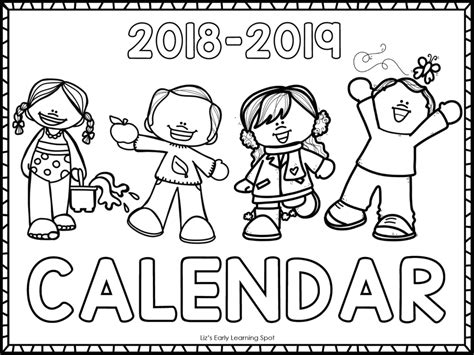 Free 2018-2019 Monthly Calendars For Kids