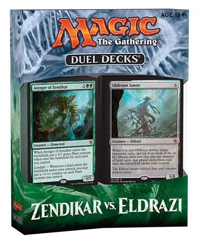 Duel Decks Zendikar Vs Eldrazi Packaging  Magic The