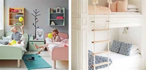 dormitorios infantiles compartidos  nino  nina