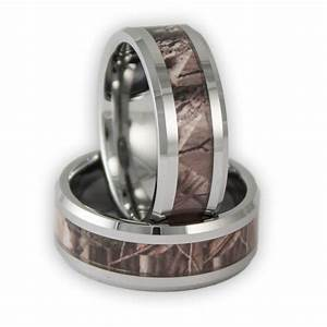 8mm wide men39s tree camo tungsten ring camouflage wedding for Camo mens wedding rings