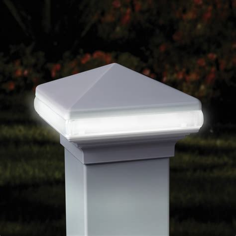 deck post caps 4x4 deckorators 4x4 aluminum light band post cap low voltage