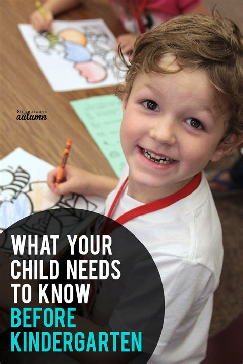 what does my child need to before kindergarten it 460 | what do kids need to know before kindergarten