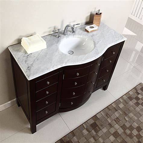 bathroom vanity cabinets with tops 48 quot single sink white marble top bathroom vanity cabinet