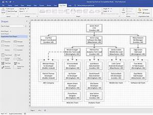 Using A Simple Organisational Chart In Microsoft Visio