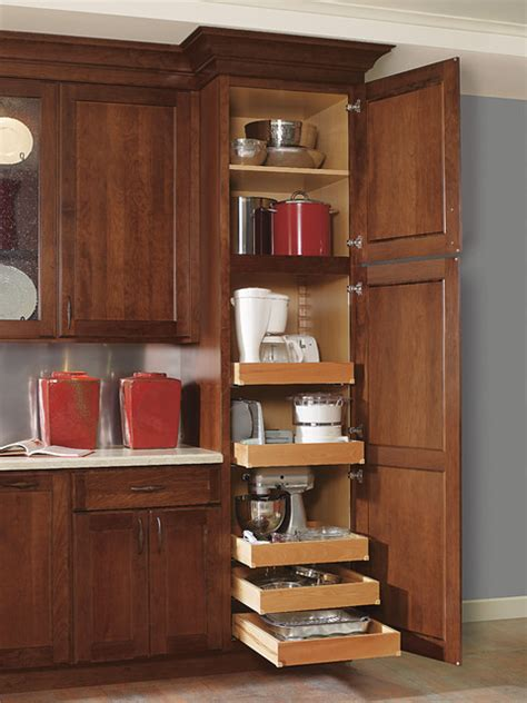 Kitchen Collection by Decora Utility With Roll Trays Kitchen Cabinetry Other
