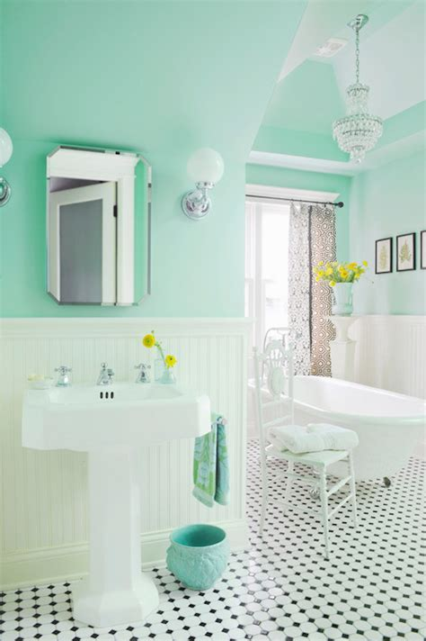 Teal Color Bathroom Decor by Mint Green Paint Colors Vintage Bathroom Benjamin