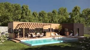 les 25 meilleures idees de la categorie maison plain pied With superb maison toit plat bois 7 constructeur maison bois arcadial maisons ossature bois