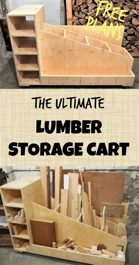 Garage Storage Montreal by The Ultimate Lumber Storage Cart Free Plans Diy Montreal