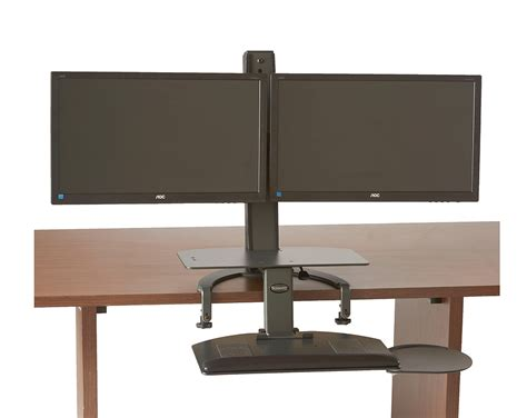 Dual Screen Standing Desk by Taskmate Go Dual Notsitting