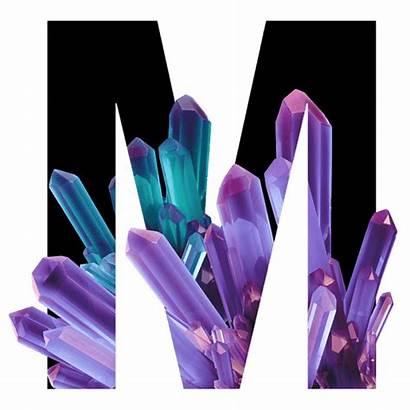 Crystal Font Inside Letter Fonts Handmadefont Diamond