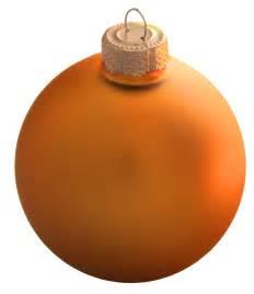 christmas decorations 4 quot orange ball ornament matte finish