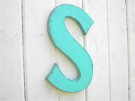Letter S For Nursery Decor Or Kids Wall Art Shabby Chic Wall