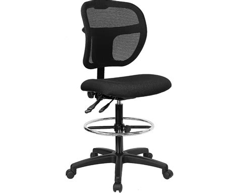 flash furniture mid back drafting chair wl a7671syg bk d