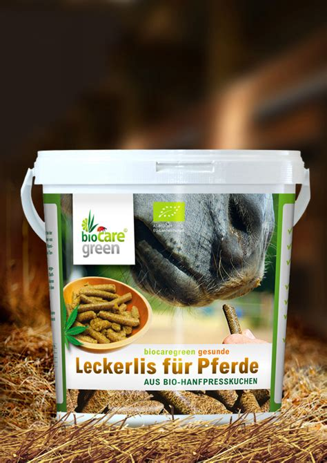 leckerlis fuer pferde aus bio hanfpresskuchen  kg