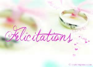 felicitation pour mariage carte imprimer félicitations mariage