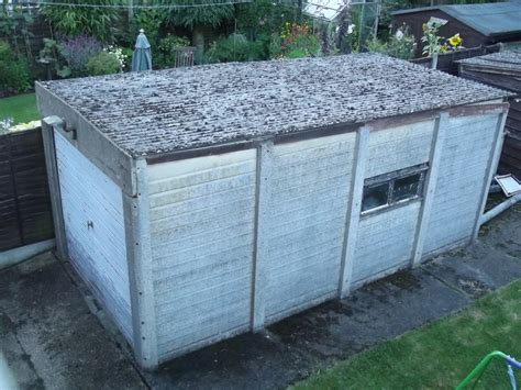 removal  asbestos corrugated sheets  garage shed