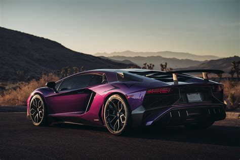 lamborghini aventador lp  sv rear view hd cars