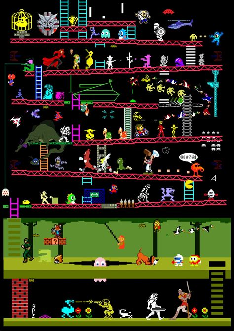 Arcade Games: 50 Reto Video Game Classics In One Illustration