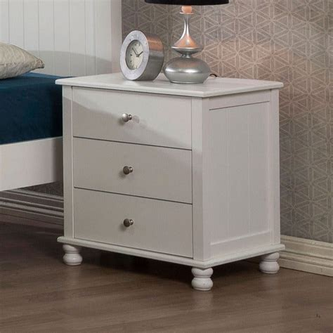 20 Inch Wide Nightstand by Shop White 3 Drawer Nightstand Free Shipping
