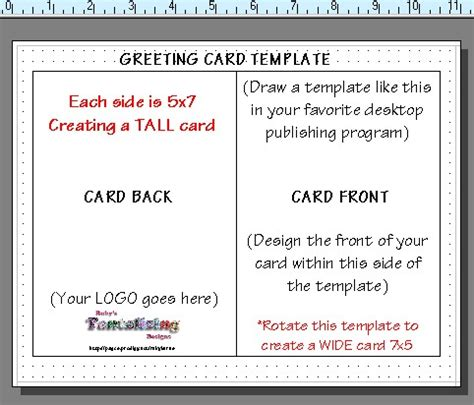 5x7 Card Template With Instructions