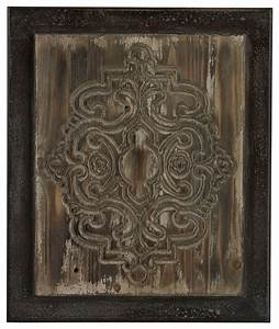 Old world carved wood panel wall decor rustic