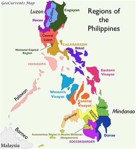 philippines regions map michelin dubvill regions