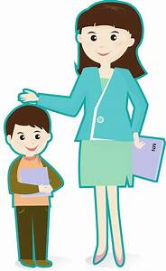 Greeting Happy Teacher Clipart - The Cliparts